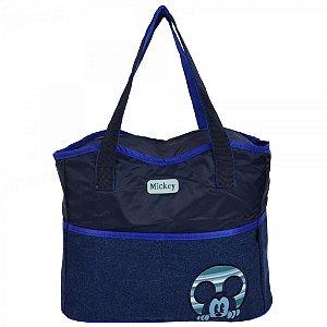 Bolsa Para Bebê Baby Bag Mickey Grande Azul Marinho 01929