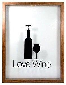 Quadro Porta Rolha Love Wine