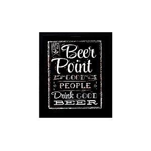 Quadro Porta Tampinha De Cerveja Beer Point