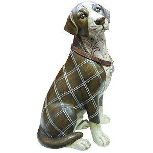 Miniatura Cachorro Inglês Sentado Em Porcelana RS-40
