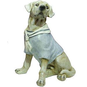 Miniatura Cachorro Labrador Marinheiro Em Porcelana Rs-48