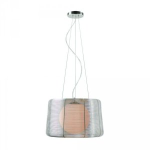 Pendente Wire Aço/alumínio/vidro Bivolt Bella (ga008s)