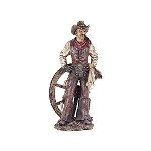 Estátua Cowboy Com Mãos Na Cintura Em Resina Goods Br (1039)
