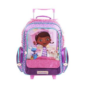 Mochila de Rodinhas Mochilete Escolar Disney Doutora Brinquedos Dermiwil (60175)
