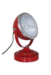 Luminária De Mesa Car Front Light Vermelha 110w (26216)