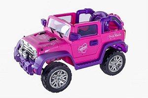 Carro Elétrico Tipo Jipe Pink Com Controle Bel Fix (927500)