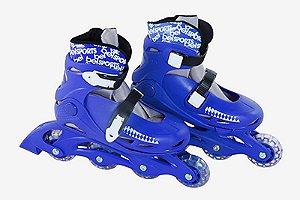 Patins Roller Radical Inline G Azul Bel Fix 36-39