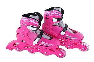 Patins Roller Radical Inline G Rosa Bel Fix 36-39