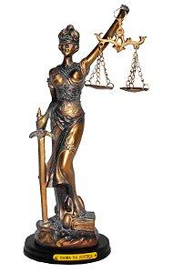 Estátua Em Miniatura Dama Da Justiça Bronze
