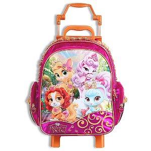 Mochila de Rodinhas Mochilete Escolar Disney Princesas Palace Pets Média (60418)