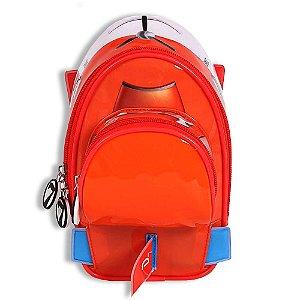Estojo Soft 3d Aviões Disney Laranja Escolar Infantil 60029