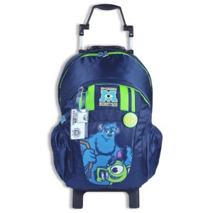Mochila De Rodinhas Universidade Monstros Escolar Azul 60484