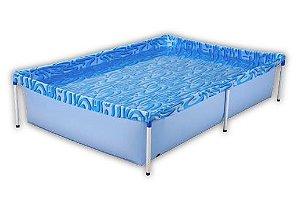 Piscina Retangular Infantil 1000 Litros Azul Pvc (610021)