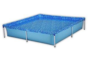 Piscina 1500 Litros Quadrada Pvc Azul Infantil (001003)