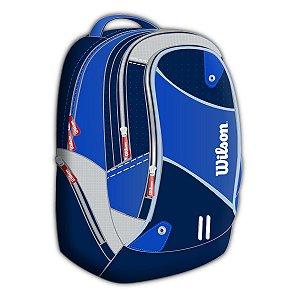 Mochila Esportiva Wilson Azul E Cinza (IX11433A)