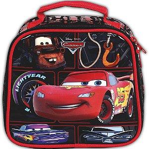 Lancheira Soft Disney Carros Preta com Porta Lanches e Squeeze