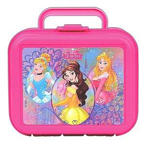 Lancheira Injetada Disney Princesas Rosa Infantil Escolar (37205)