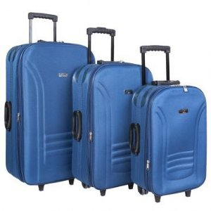 Conjunto Malas de Viagem P/M/G em ABS Azul Swiss Move