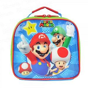 Lancheira Térmica Mario Bros Nintendo Infantil Escolar 49066