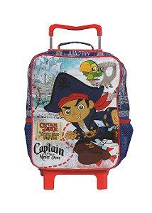 Mochila de Rodinhas Mochilete Escolar Disney Capitão Jake (36971)