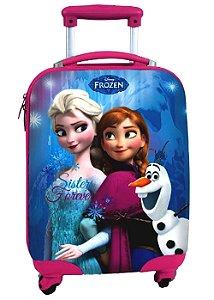 Mala Infantil de Rodinhas Disney Frozen Sisters Forever Azul 37129