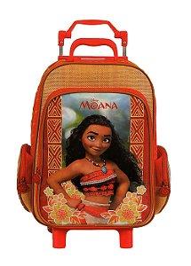 Mochila de Rodinhas Mochilete Escolar Disney Princesa Moana (37173)