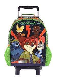 Mochila de Rodinhas Mochilete Escolar Disney Zootopia (37287)