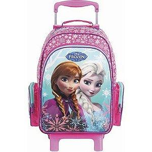 Mochila de Rodinhas Mochilete Escolar Média Disney Frozen Rosa (37116)