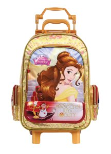 Mochila de Rodinhas Mochilete Escolar Grande Dermiwil Disney Princesas A Bela e a Fera (36906)