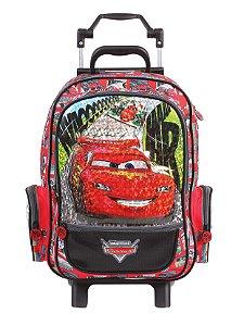 Mochila de Rodinhas Mochilete Escolar Grande Dermiwil Disney Carros  McQueen (36994)