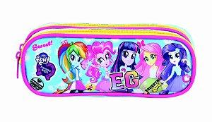 Estojo Soft 2 Divisórias Dermiwil Equestria Girls Blue 48995