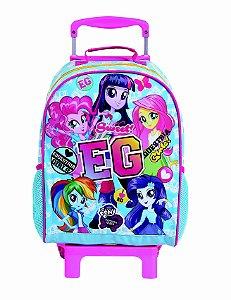 Mochila de Rodinhas Mochilete Escolar Grande Dermiwil Hasbro Equestria Girls Azul (48999)