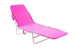 Cadeira Espreguiçadeira Poliester Bel Fix Rosa 6000
