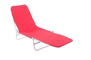 Cadeira Espreguiçadeira Poliester Bel Fix Vermelho 6000