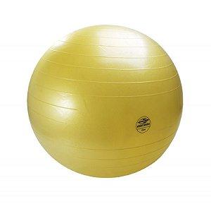 Bola de Ginástica Amarela 65cm Mormaii Fitness Anti-Burst 447200