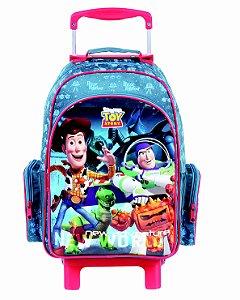 Mochila de Rodinhas Mochilete Escolar Grande Dermiwil Disney Toy Story Azul (37258)
