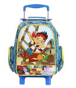 Mochila de Rodinhas Mochilete Escolar Média Disney Jake e os Piratas da Terra do Nunca (60257)