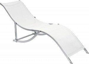 Cadeira Espreguiçadeira S Alumínio Textilene - Branco (35700)