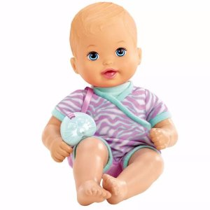 Boneca Little Mommy Recem Nascido Listas Lilás