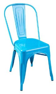 Cadeira Iron Tolix Azul Claro