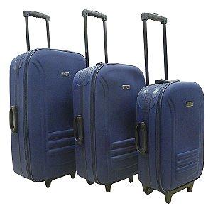 Conjunto de Malas de Viagem Travel Max 3 Peças Lucerna Azul