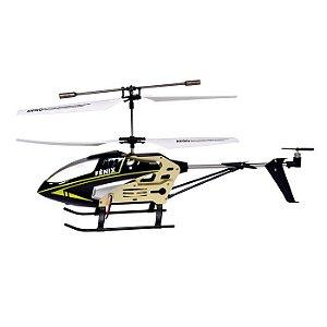 Helicóptero Fenix c/ Controle Remoto 3 canais(Preto)