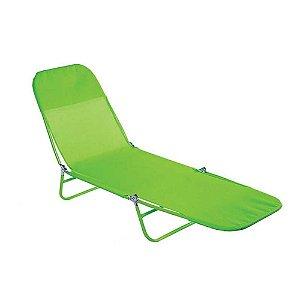 Espreguiçadeira Dobrável Textilene Fashion Verde - Mor Verão