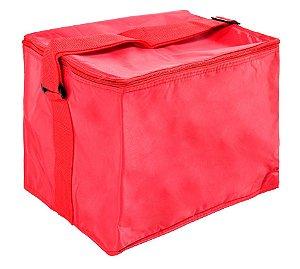 Bolsa Cooler Térmica 24 Lt Poliester Vermelha Belfix