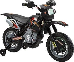 Moto Eletrica Infantil - Preto 6v (926000)