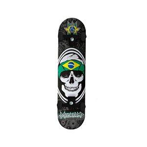 Skateboard Mega Ramp Caveira c/ Bandeira do Brasil
