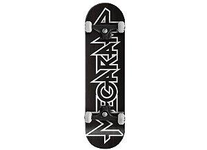 Skateboard Mega Ramp Preto e Branco