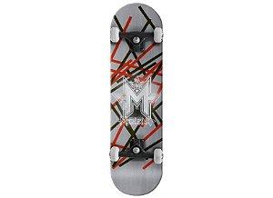 Skateboard Mega Rampa Preto e Vermelho