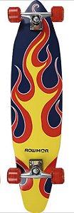 Skate Long-Board 97 cm x 20cm Chama De Fogo MOR