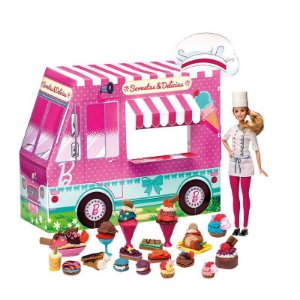 Massinha Barbie Food Truck Sorvetes e Delicias